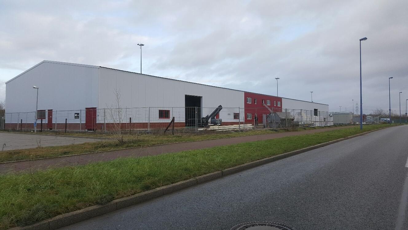 Bouw van noedelfabriek in Duisburg (Dld)