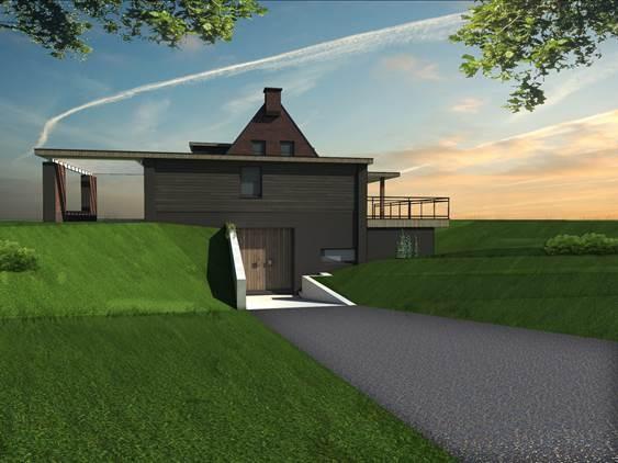 Een plaatje:  vrijstaand woonhuis aan Eendenparkweg in Ermelo