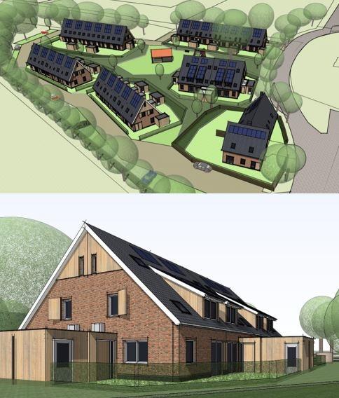 In opdracht van CPO Vogelvlucht 34 nieuw te bouwen woningen