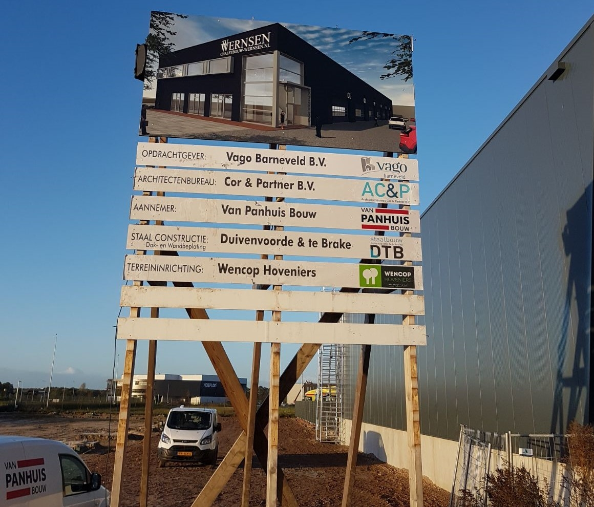 Nieuwbouw bedrijfshal Wernsen Chaletbouw