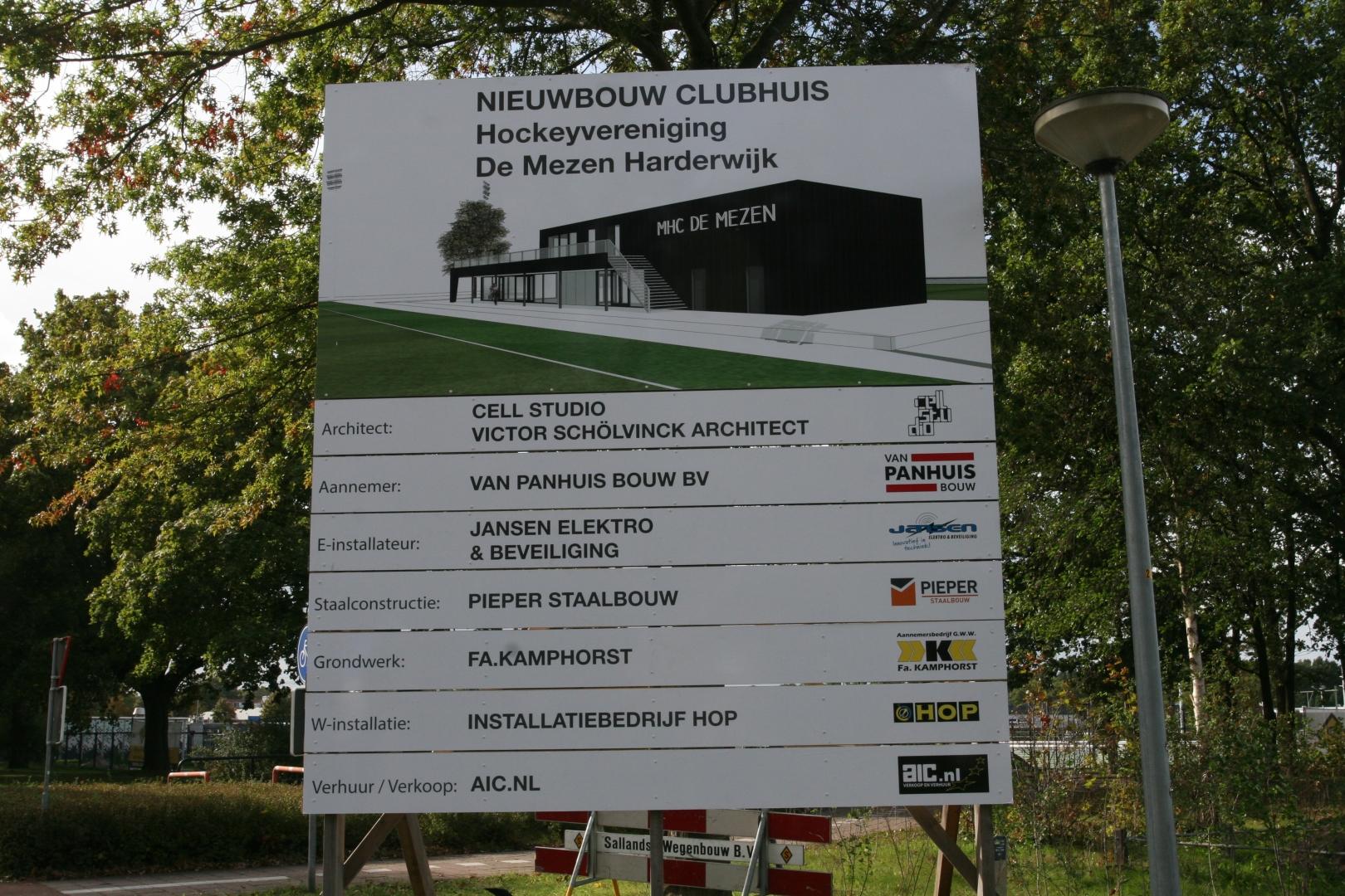Nieuwbouw clubhuis hockeyvereniging de Mezen Harderwijk