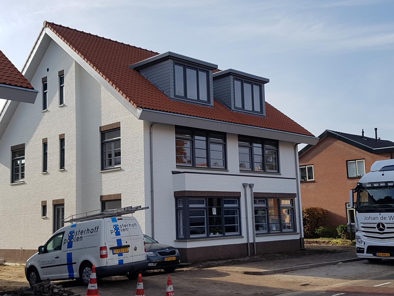 Nieuwbouw vier 2 onder 1 kap woningen Den Dolder