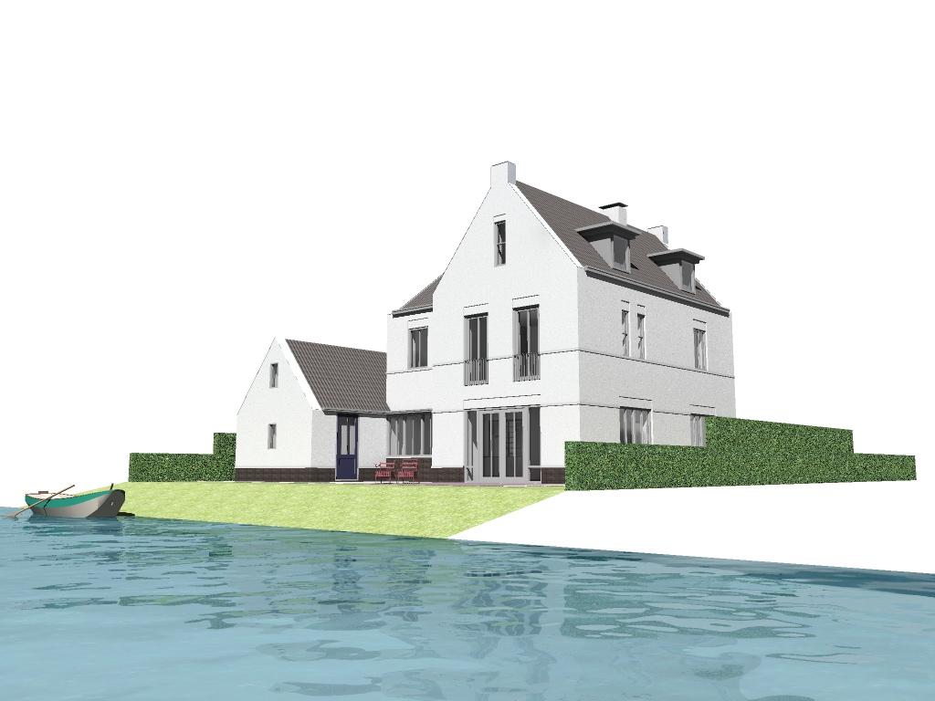 Nieuwbouw waterfront woning