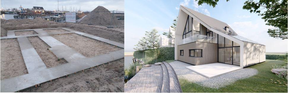 Start nieuwbouw vrijstaande woning op het Noordereiland te Harderwijk